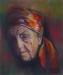 Piffeteau -la femme au foulard colore sur velours-50x40.JPG