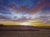 Latger - La moisson au soleil couchant-53x73_01