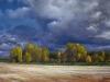 Latger - ciel orageux sur la Loire assechee_53x73_01