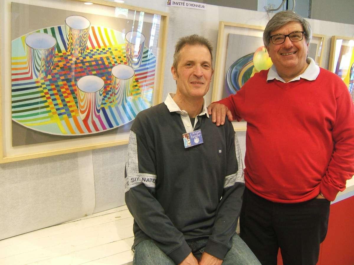 Francois Malnati et Didier Boinnard artisan pastellier.JPG